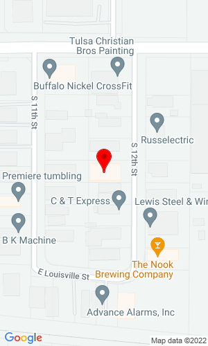 Google Map of Winches Inc. 804 S 12th Street, Broken Arrow, OK, 74012