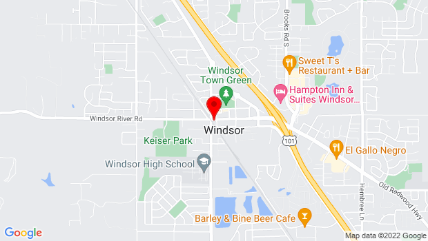 Google Map of Windsor, CA