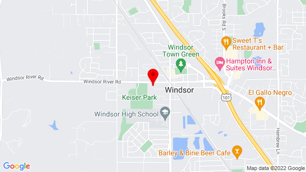 Google Map of Windsor, CA 95492