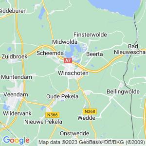 Werkgebied van onze bestrijder in Winschoten