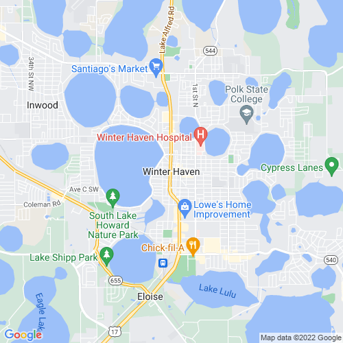 Map of Winter Haven, FL