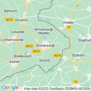 Werkgebied van onze bestrijder in Winterswijk