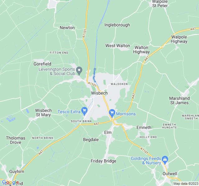 Website Designer Wisbech Google map of location