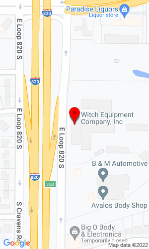 Google Map of Witch Equipment Co. Inc. 1901 E Loop 820 South, Fort Worth, TX, 76112