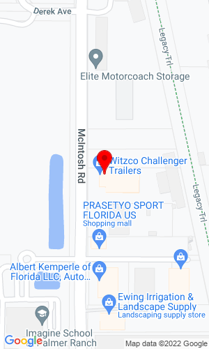Google Map of Witzco Trailers, Inc. 6101 South McIntosh Road, Sarasota, FL, 34238