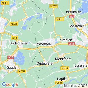 Werkgebied van onze bestrijder in Woerden