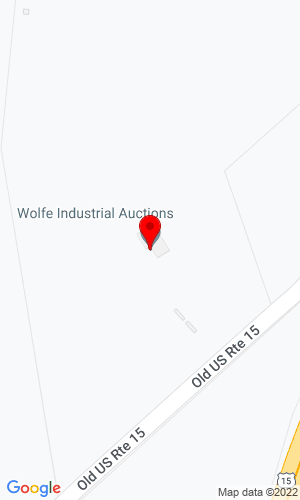 Google Map of Wolfe Industrial Auctions 9801 Hansonville Road, Frederick, MD, 21702