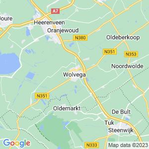 Werkgebied van onze bestrijder in Wolvega