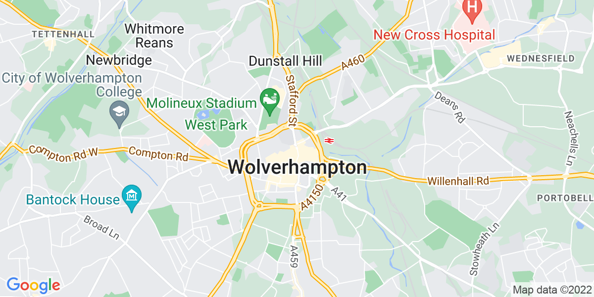 Map: Specialist Student Support Worker position in Wolverhampton