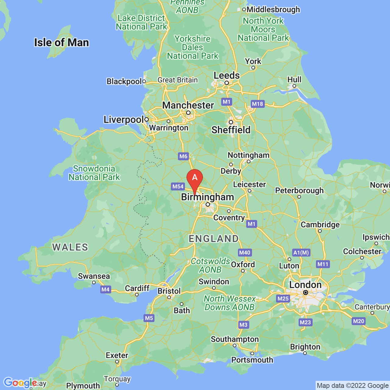 Wolverhampton, England Map