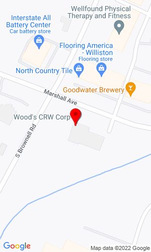 Google Map of Wood's CRW Corp. 795 Marhsall Avenue, Williston , VT, 05495
