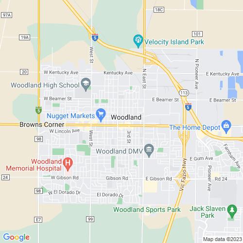 Map of Woodland, CA