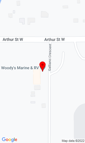 Google Map of Woody's Trailer World 1520 Arthur St, Thunder Bay, ON, P7K 1A5