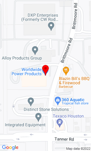Google Map of Worldwide Power Products 5711 Brittmoore Rd, Houston, TX, 77041,