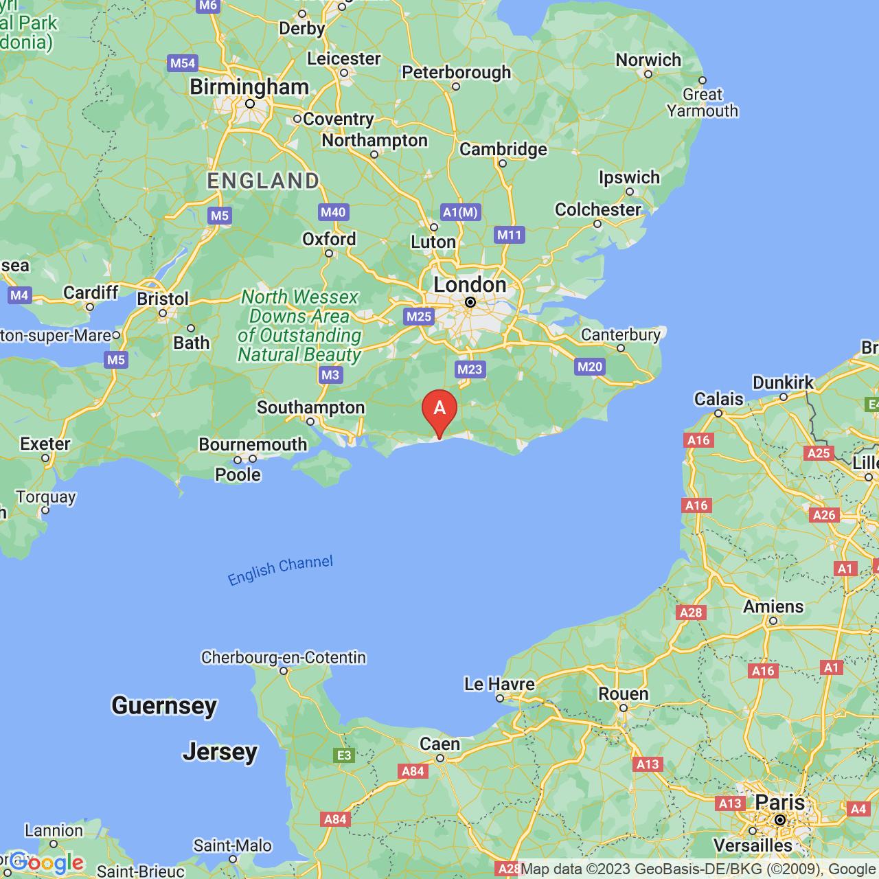 Worthing, England Map