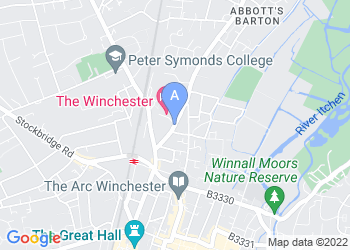 Map for The Winchester Hotel & Spa, Winchester
