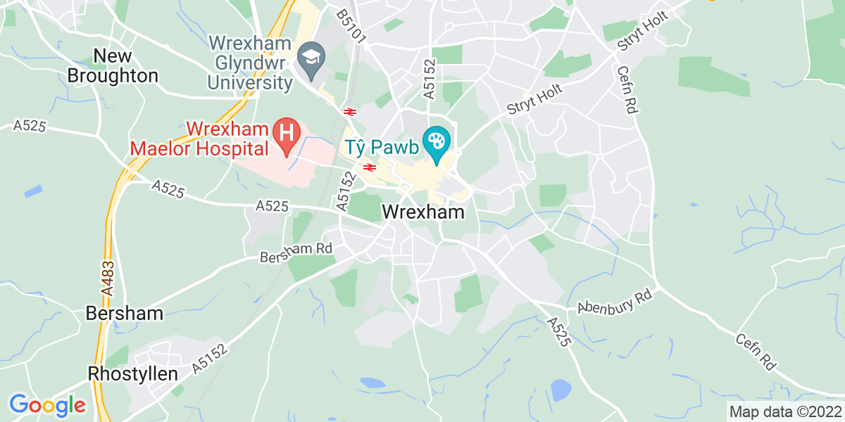Map: Robot Weld - Shifts position in Wrexham