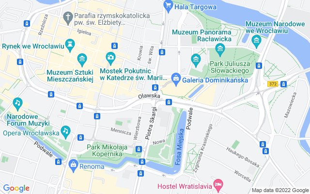 Show map of Wroclaw