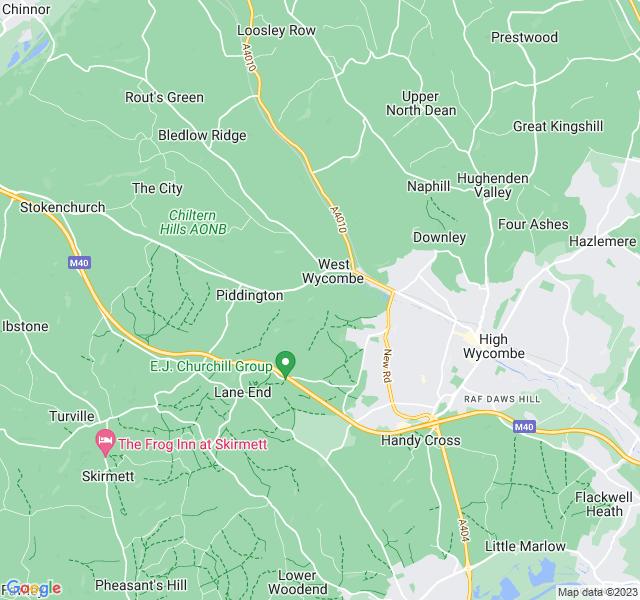 Website Designer Wycombe Google map of location