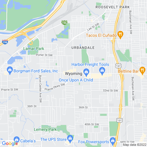 Map of Wyoming, MI