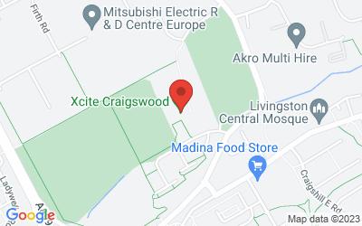 Map of Xcite Craigswood, Craigswood, Livingston, UK