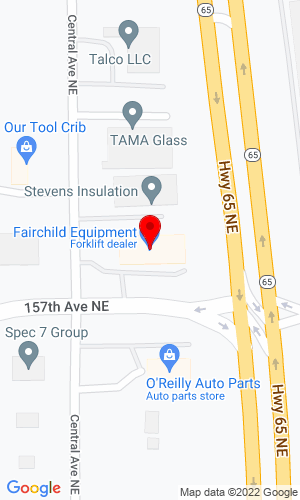 Google Map of Yale Material Handling - Minnesota 15735 Central Ave NE, Ham Lake, MN, 55304