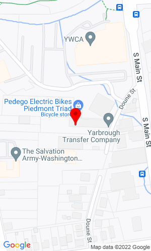 Google Map of Yarbrough Transfer Company 1500 Doune Street, Winston-Salem, NC, 27127