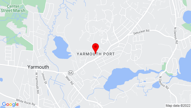 Google Map of Yarmouth Port, MA
