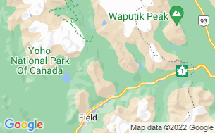 Map of Yoho National Park