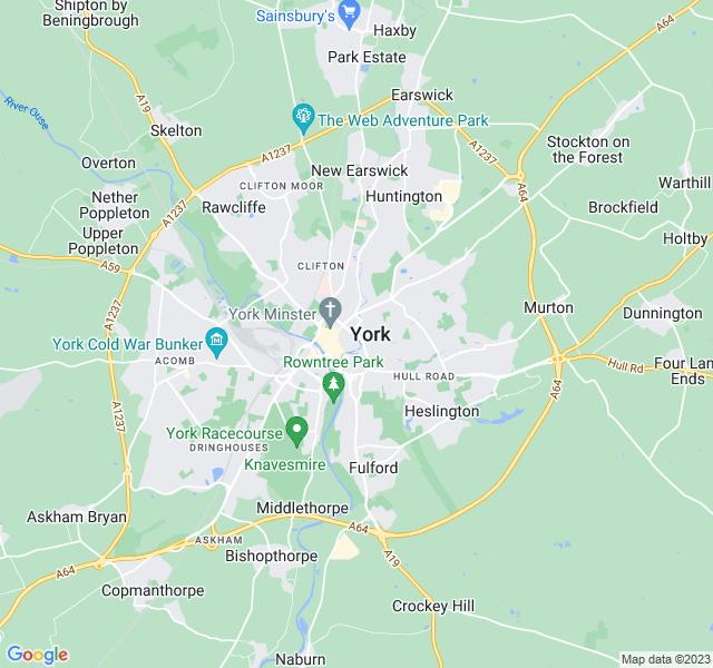 Website Designer York Google map of location