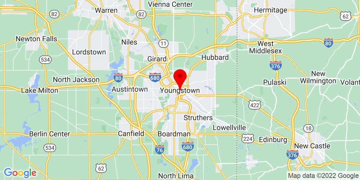 Google Map of Youngstown, OH
