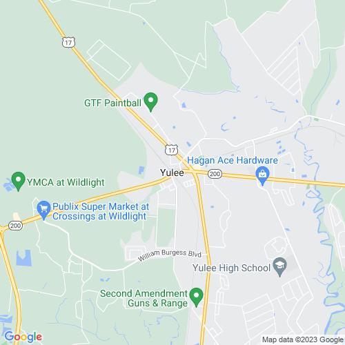 Map of Yulee, FL