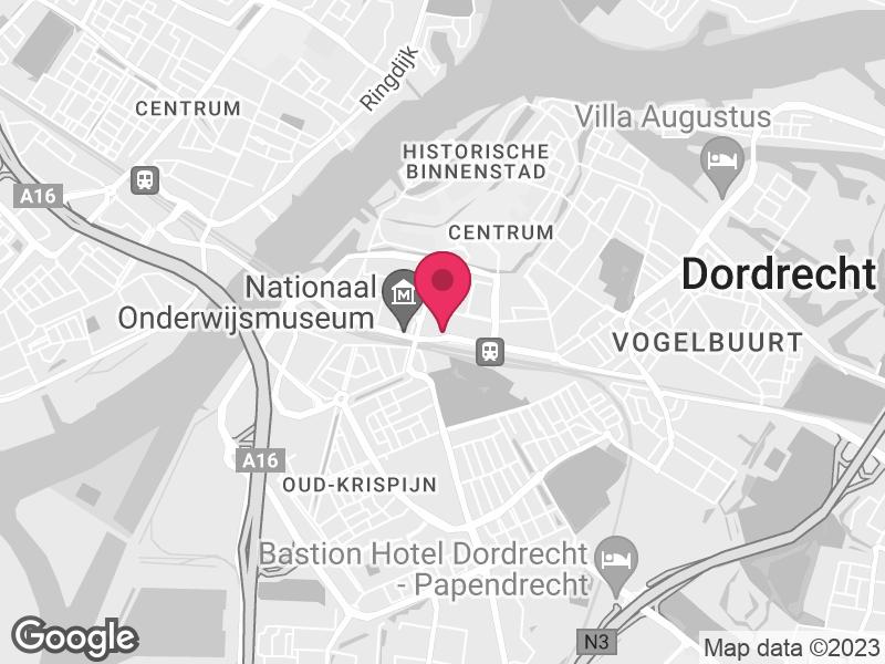 Google Map of Yulius Burgemeester de Raadtsingel 93  Dordrecht