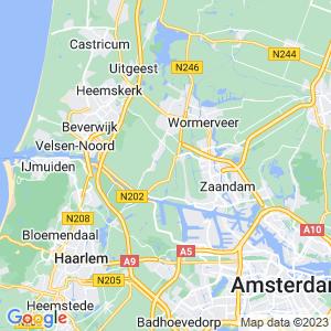 Werkgebied van onze bestrijder in Zaanstad