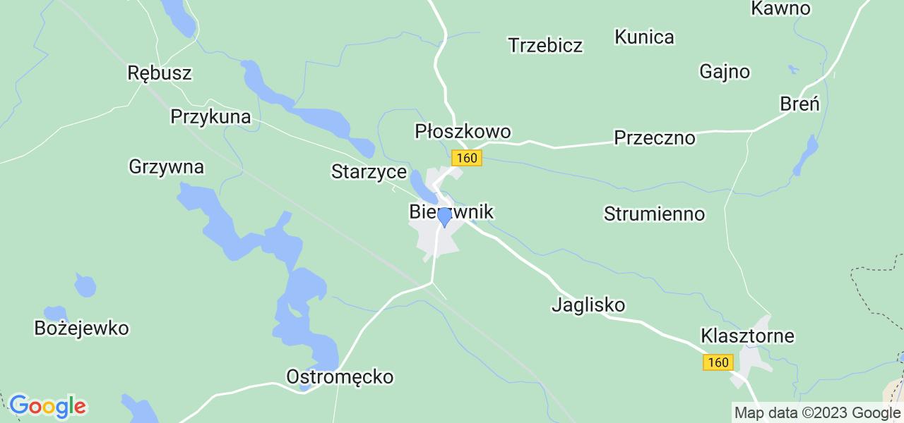 Dostępne w Bierzwniku lokalizacje punktów nadania, z których możesz skorzystać, chcąc wysłać turbinę do regeneracji w największym serwisie w Polsce