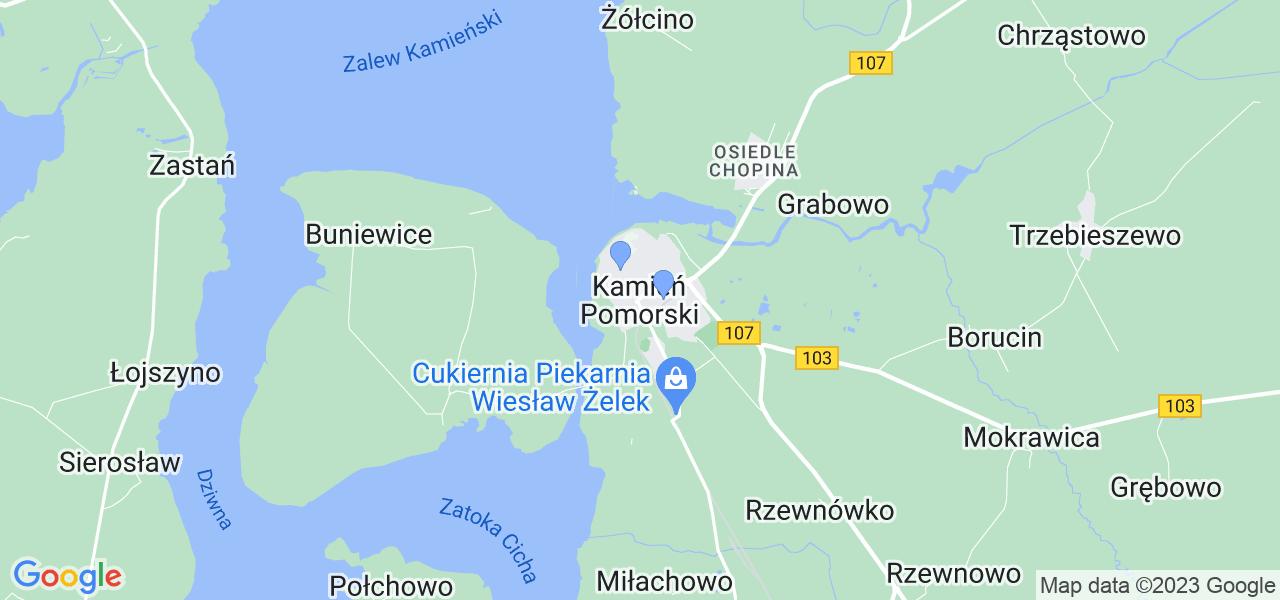 Dostępne w Kamieniu Pomorskim lokalizacje punktów nadania, z których możesz skorzystać, chcąc wysłać turbinę do regeneracji w największym serwisie w Polsce
