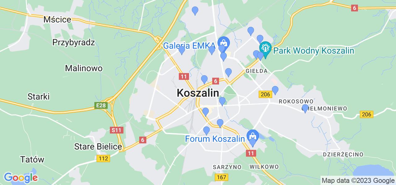 Dostępne w Koszalinie lokalizacje punktów nadania, z których możesz skorzystać, chcąc wysłać turbinę do regeneracji w największym serwisie w Polsce