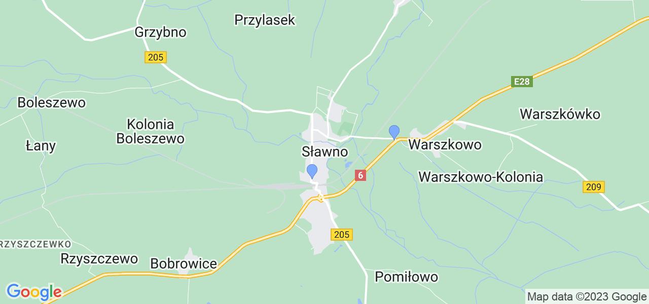 Dostępne w Sławnie lokalizacje punktów nadania, z których możesz skorzystać, chcąc wysłać turbinę do regeneracji w największym serwisie w Polsce