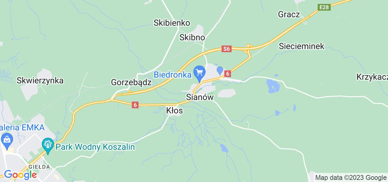 Dostępne w Sianowie lokalizacje punktów nadania, z których możesz skorzystać, chcąc wysłać turbinę do regeneracji w największym serwisie w Polsce