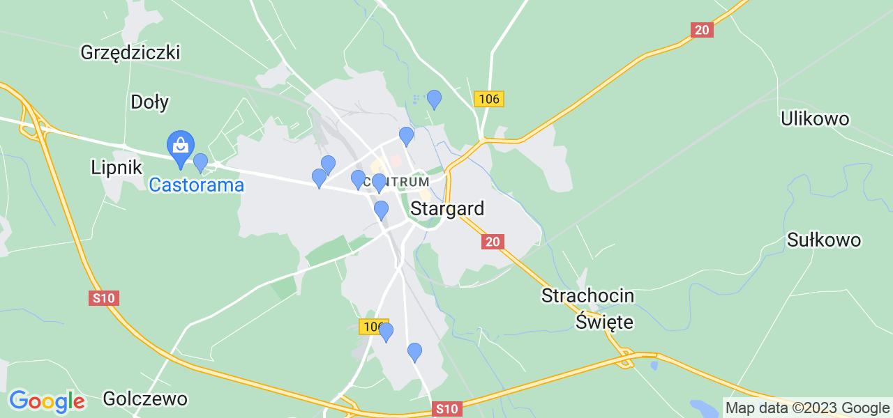 Dostępne w Stargardzie lokalizacje punktów nadania, z których możesz skorzystać, chcąc wysłać turbinę do regeneracji w największym serwisie w Polsce