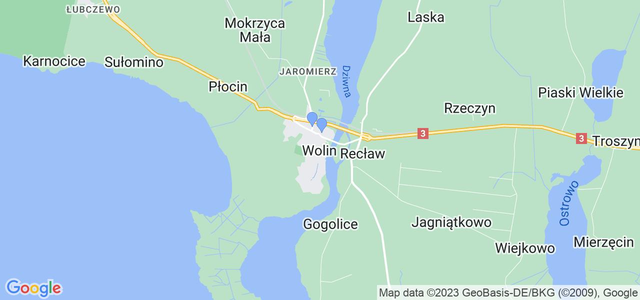 Dostępne w Wolinie lokalizacje punktów nadania, z których możesz skorzystać, chcąc wysłać turbinę do regeneracji w największym serwisie w Polsce