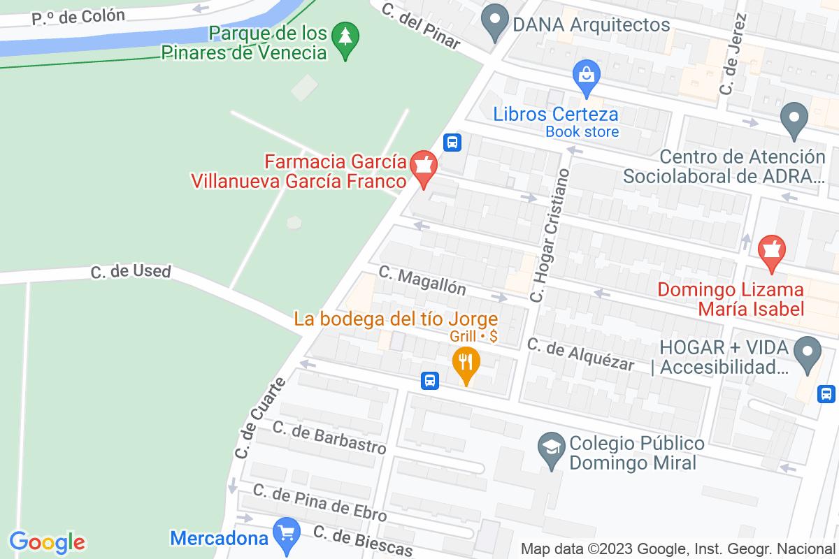 Mapa Zaragoza MAGALLON