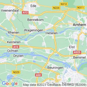 Werkgebied van onze bestrijder in Zetten