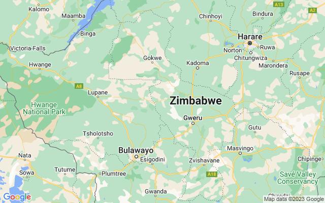 Show map of Zimbabwe