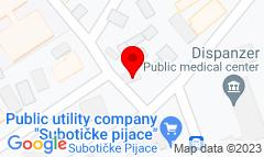Google Map of Zmaj Jovina 29, Subotica