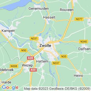 Werkgebied van onze bestrijder in Zwolle
