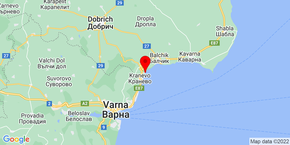 Google Map of albena bulgaria