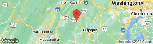 Map of ASHBY ROAD SPERRYVILLE, VA 22740
