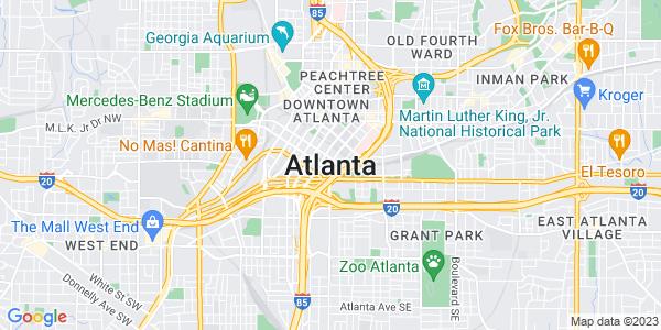 Google Map of Atlanta