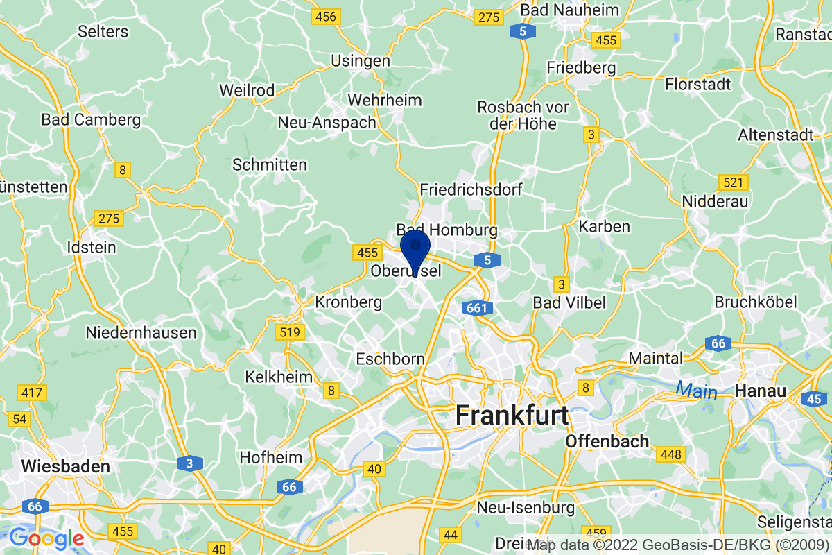 Google Map of bdp Frankfurt, Frankfurter Landstraße 2-4, 61440 Oberursel